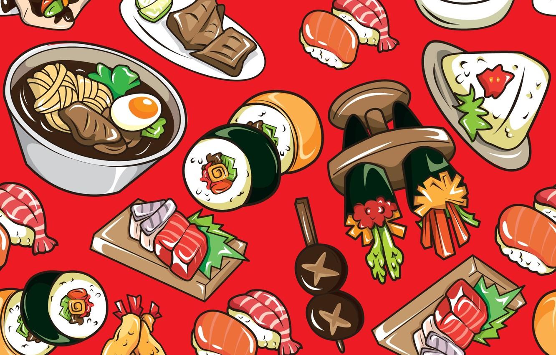 Wallpaper Texture Texture Rolls Sushi Sushi Rolls