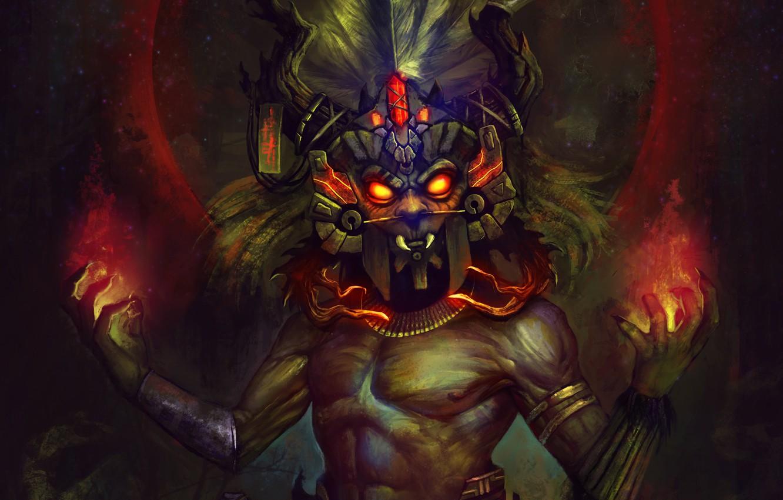 Photo wallpaper Blizzard, Art, Diablo 3, Diablo III, Background, Blizzard Entertainment, Witch Doctor, Mask, Video Game, Reaper …