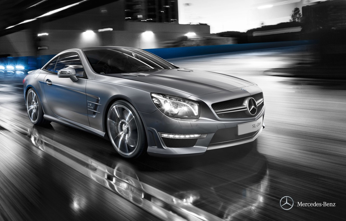 Photo wallpaper Mercedes-Benz, convertible, Mercedes, 2011, R231, SL-class