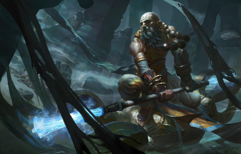 Wallpaper art, Diablo III, monk, Reaper of souls images for