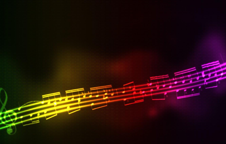Photo wallpaper Stream, Music, Notes, Music