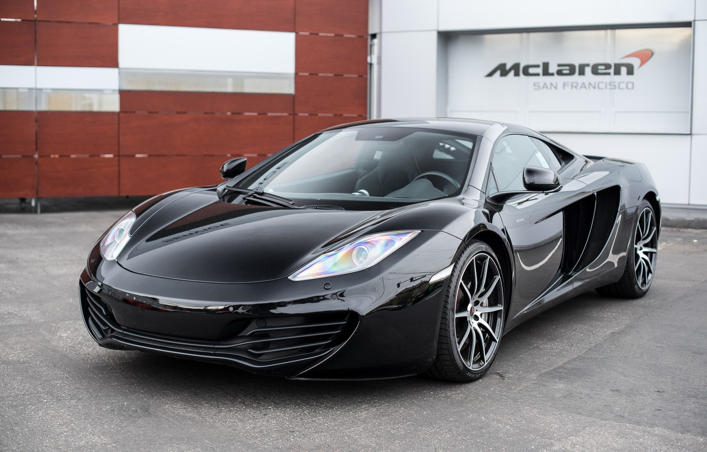Photo wallpaper McLaren, black, MP4-12C, carbon