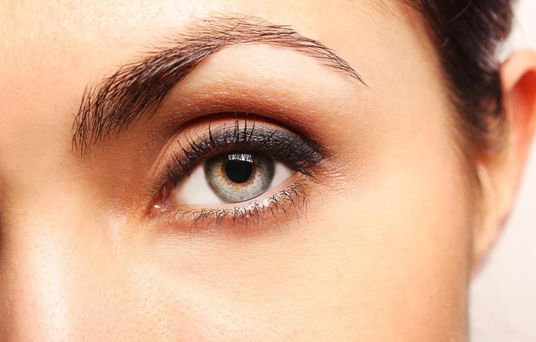 Photo wallpaper woman, eye, pupil