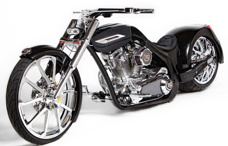 Photo wallpaper black, bike, Tune