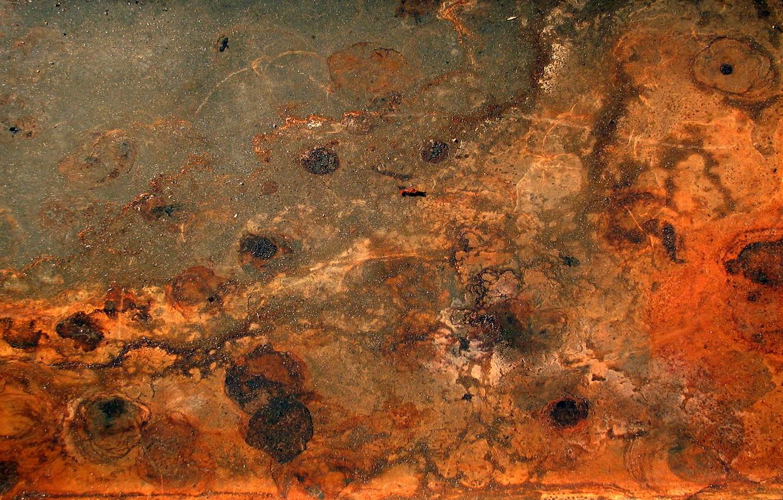 Photo wallpaper metal, rust, red, texture
