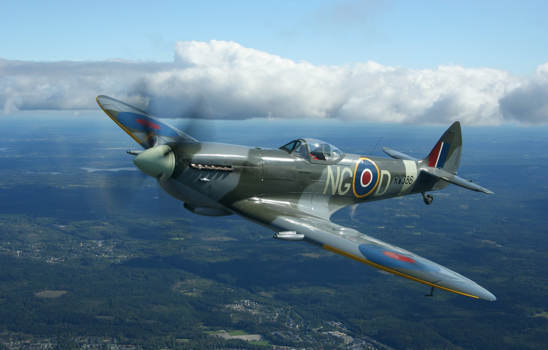 Photo wallpaper fighter, Britain, spitfire