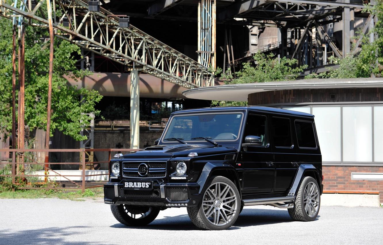 Photo wallpaper black, Mercedes-Benz, Brabus, Mercedes, Black, BRABUS, g, G-Class, Gelandewagen, W463, 2015, G 850