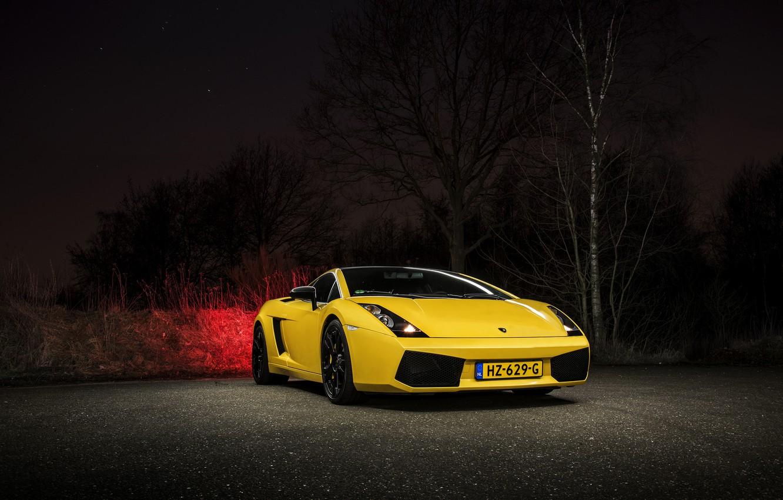 Photo wallpaper Lamborghini, Gallardo, Yellow