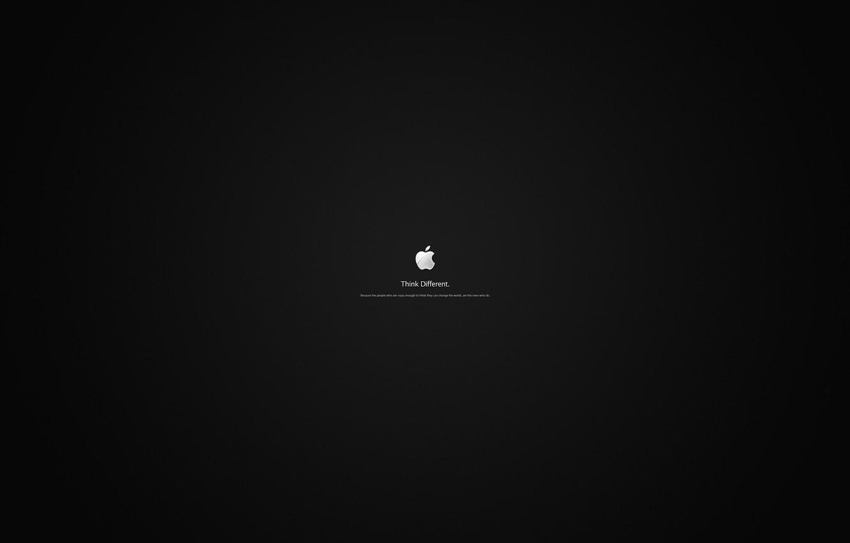 Photo wallpaper apple, Apple, minimalism, logo, words