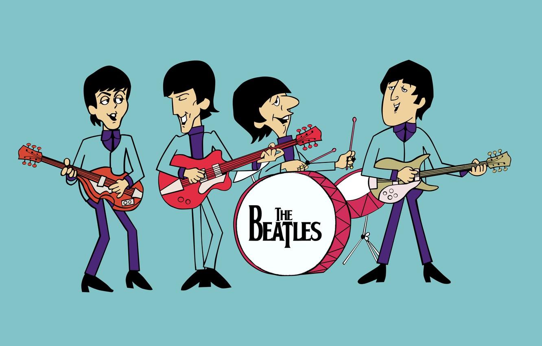 Photo wallpaper guitar, drum, the Beatles, the Beatles, the beatles