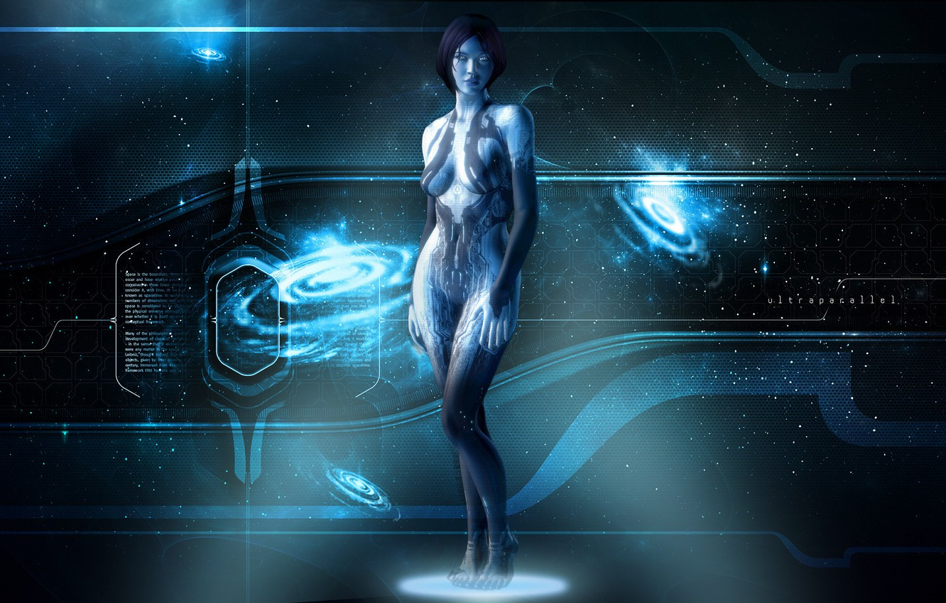 Photo wallpaper Cortana, Xbox 360, Halo 4, Hologram