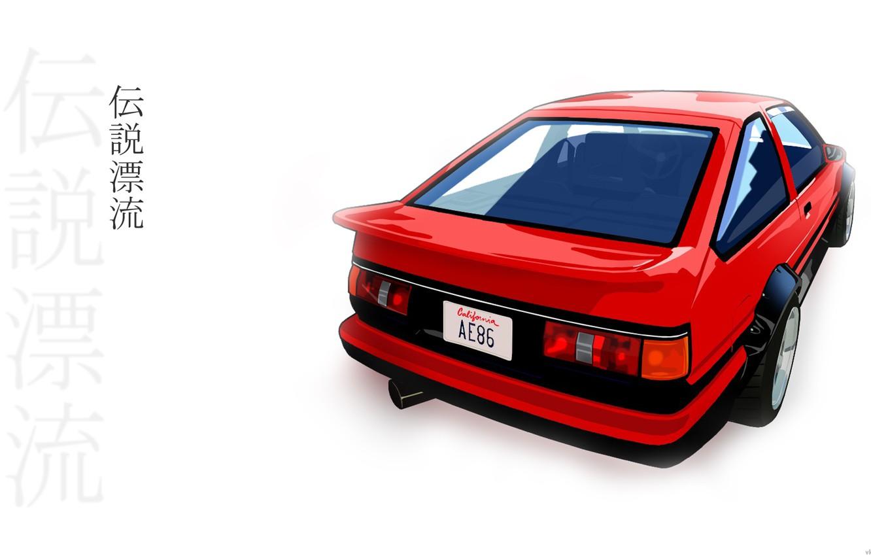 Photo wallpaper Toyota, AE86, red car, Drift legend
