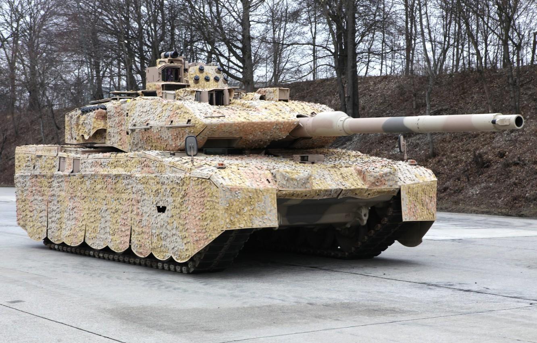 Photo wallpaper camouflage, German tank, Leopard 2A7+, (KMW), Krauss-Maffei Wegmann