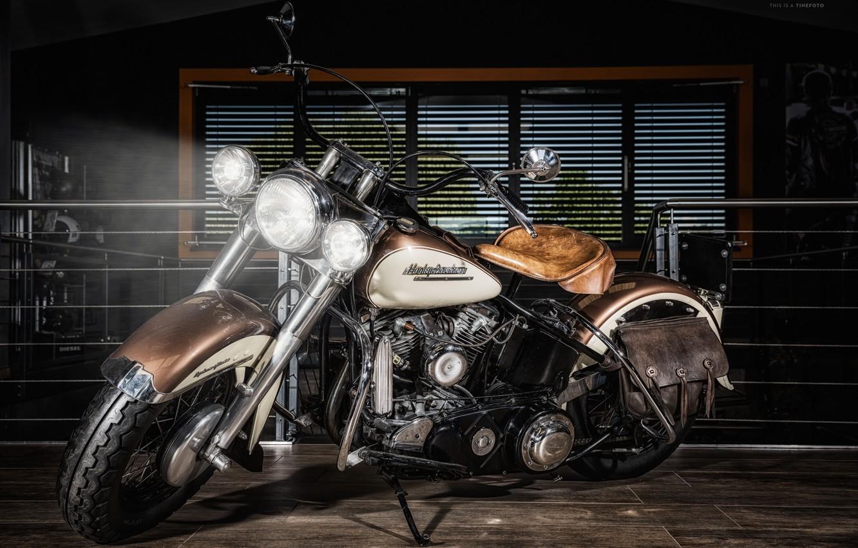 Photo wallpaper Harley Davidson, bike, motorcycle, chopper.