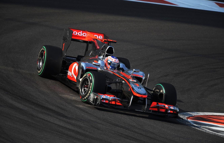 Photo wallpaper McLaren, formula 1, 2010, Jenson Button, AbuDhabiGP, Jenson button