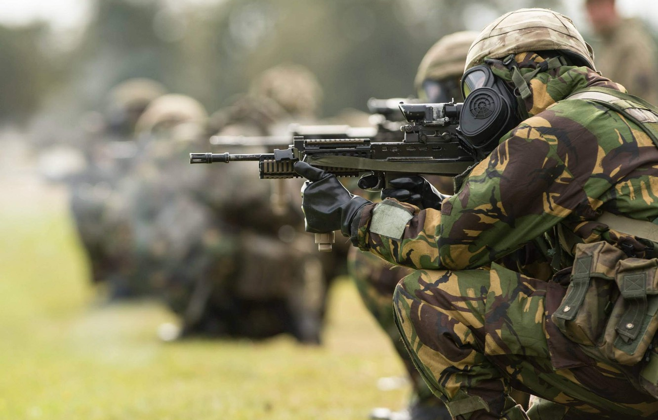 Photo wallpaper weapons, army, soldiers, British Army