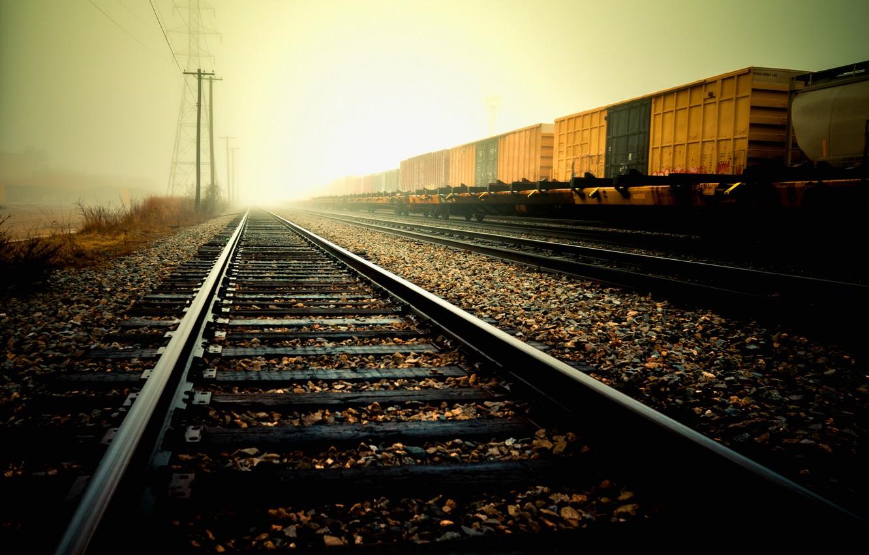 Wallpaper rails, Road, railroad, sleepers, gravel images for desktop