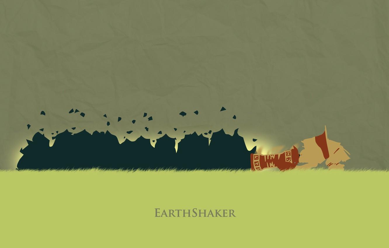 Photo wallpaper Shaker, Valve, Dota 2, Earthshaker, minimalish, Dotake