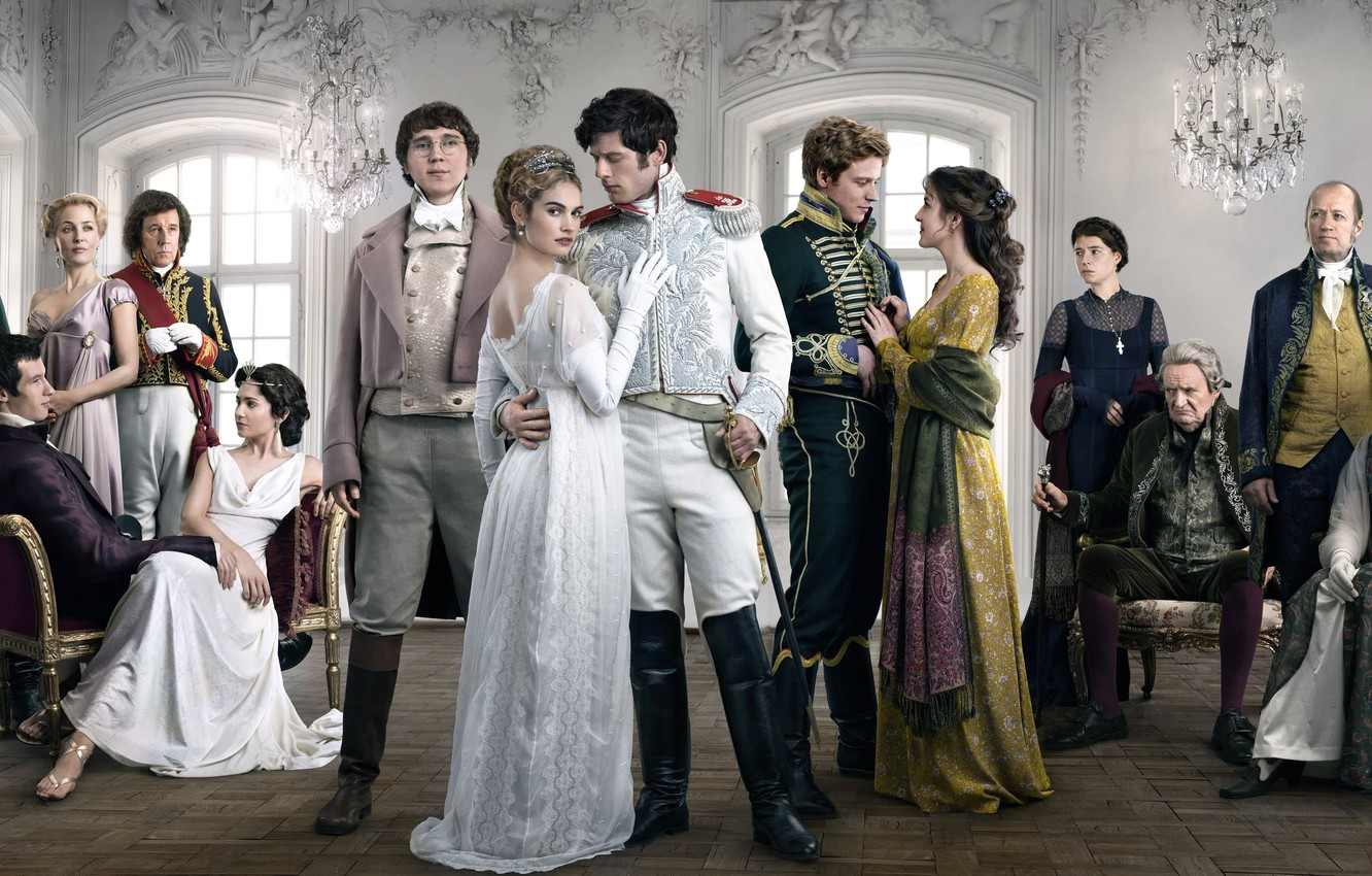 Photo wallpaper James Norton, Lily James, War and peace, Aneurin Barnard, War & Peace, in the series, …