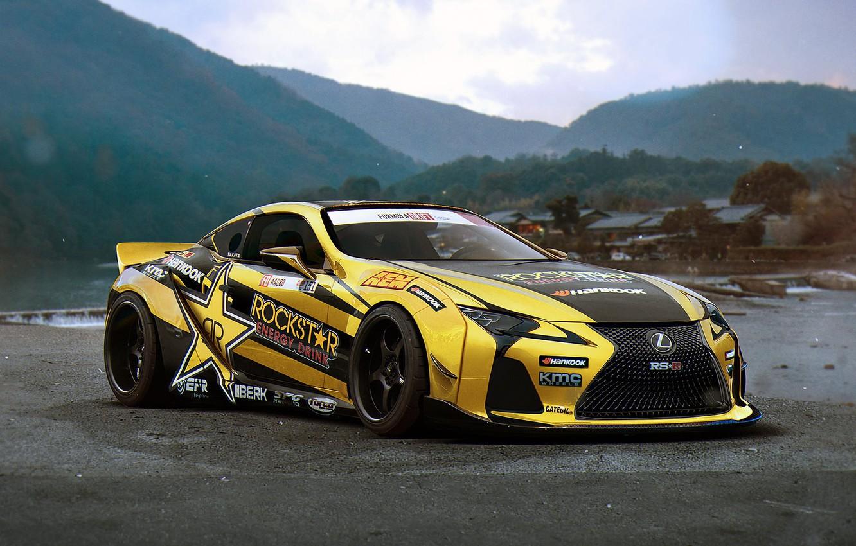 Photo wallpaper Lexus, Rockstar, Tuning, Future, Energy, Drink, by Khyzyl Saleem, LC 500