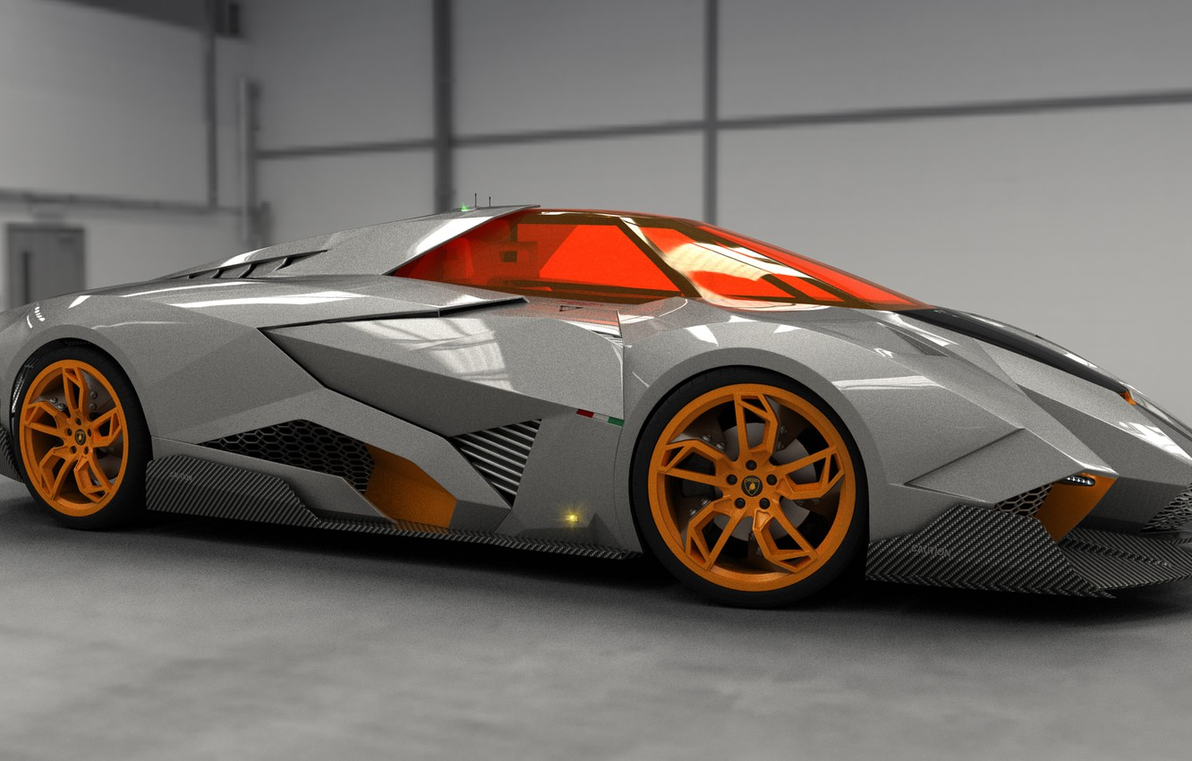 Wallpaper Concept Auto Lamborghini View The Concept Car Front