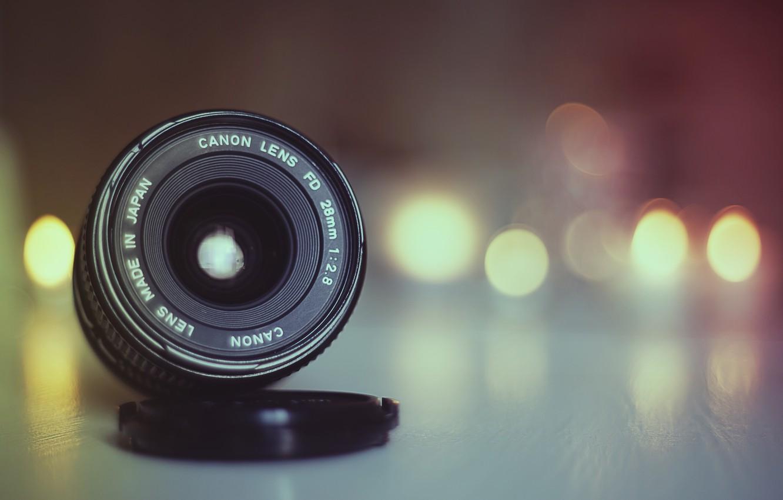 Photo wallpaper light, Canon, bokeh, lens, globes