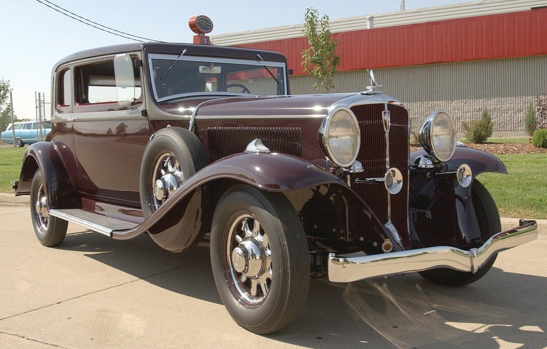 Photo wallpaper auto, retro, USA, America, car, classic, 1932, Model 91, President St. Regis Brougham, Studebaker