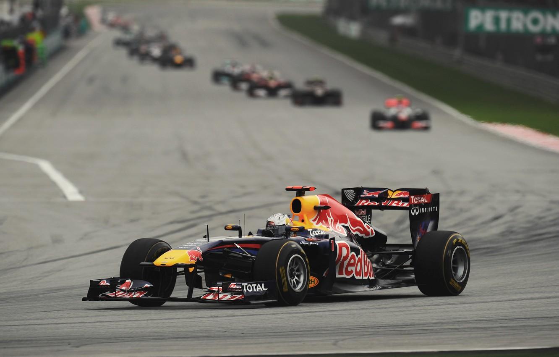 Photo wallpaper Racer, Formula 1, Vettel, Champion, Sebastian