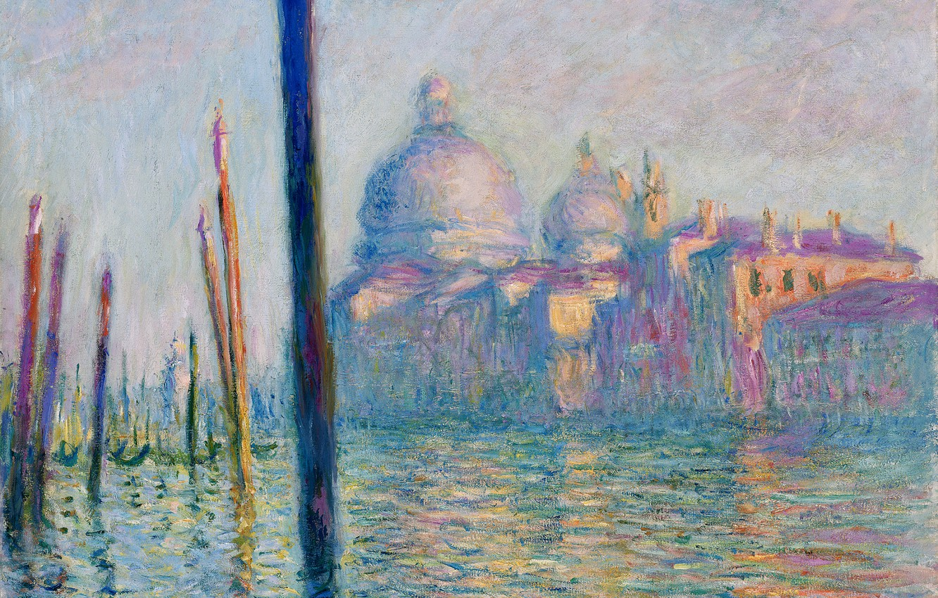 Photo wallpaper picture, the urban landscape, Claude Monet, The Grand Canal in Venice