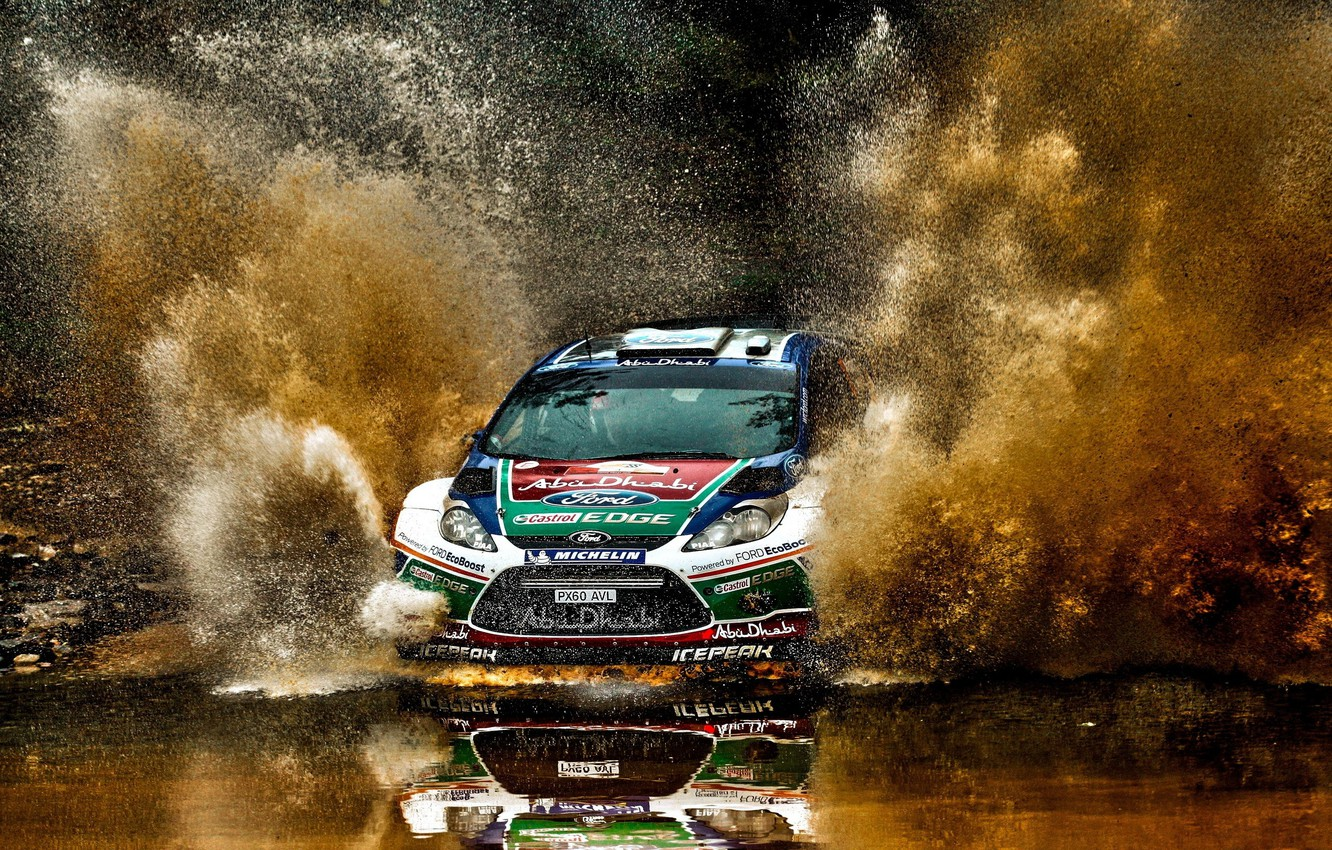 Photo wallpaper car, ford, rally