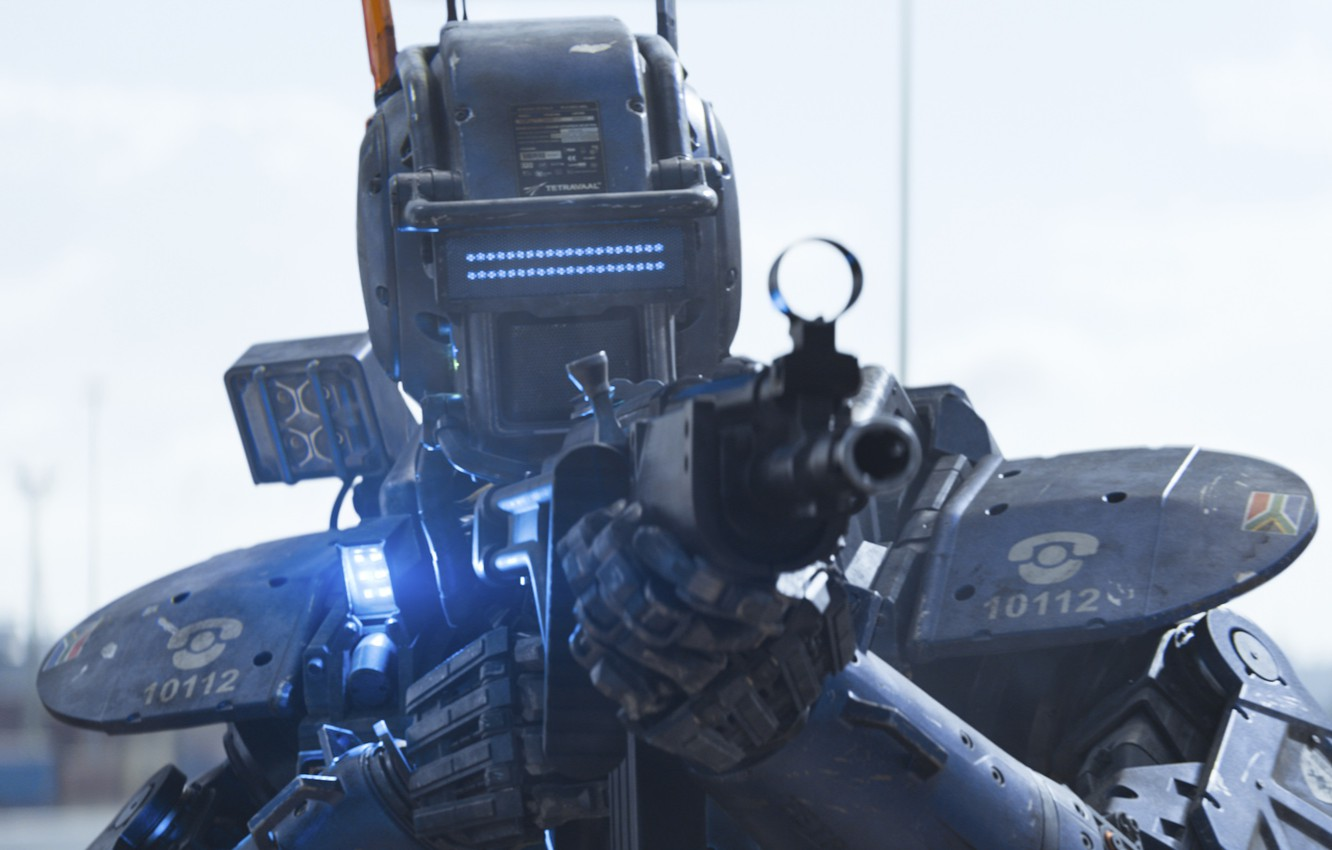 Photo wallpaper Action, Fantasy, Police, Robot, with, Street, Machine, Wallpaper, Guns, Year, Weapons, Walt Disney Pictures, Movie, …