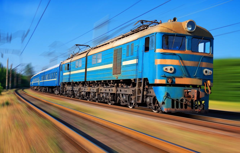 Photo wallpaper movement, train, train, VL-8
