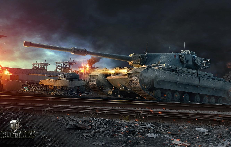Photo wallpaper England, UK, WoT, World of Tanks, World Of Tanks, Conqueror, Wargaming Net, British Tank, FV4202