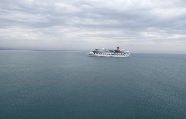 Photo wallpaper sea, water, ships, Liner, Costa Pacifica, grandeur of the seas