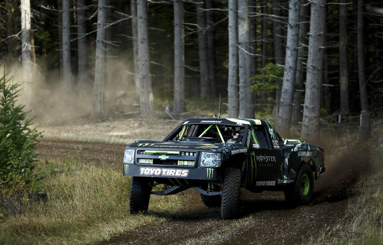 Photo wallpaper forest, forest, Chevrolet, chevrolet, truck