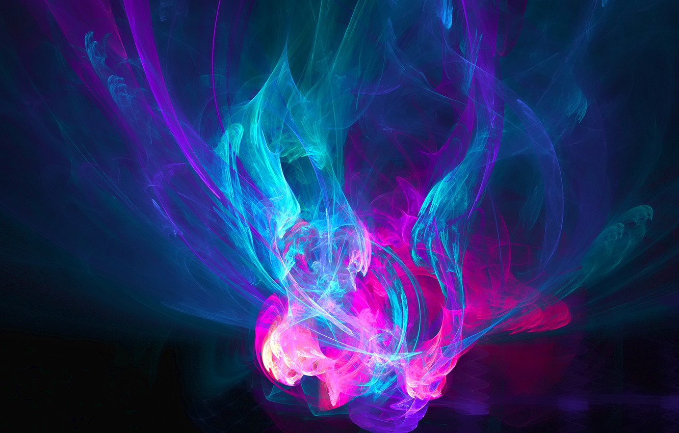 Photo wallpaper purple, abstraction, fire, pink, blue, patterns