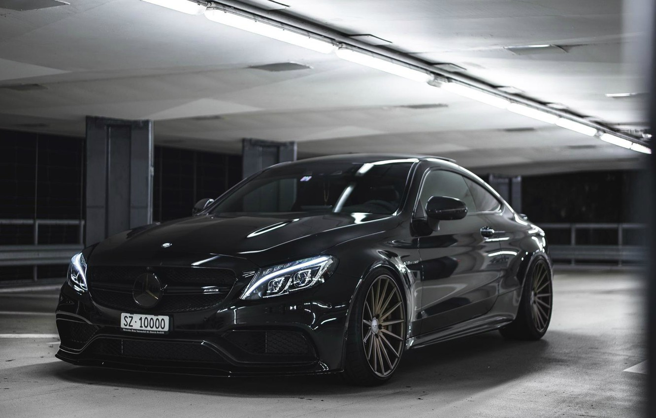 Photo wallpaper Mercedes-Benz, coupe, C63 AMG S