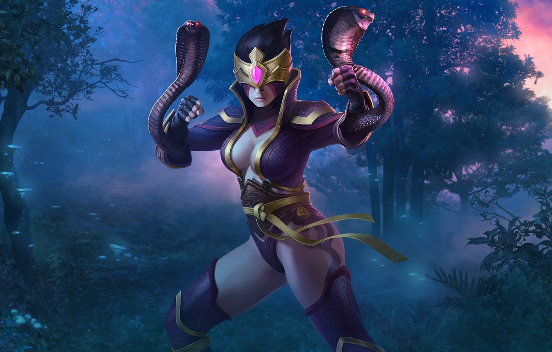 Wallpaper Snakes Girl The Game Ninja Cobra Juggernaut