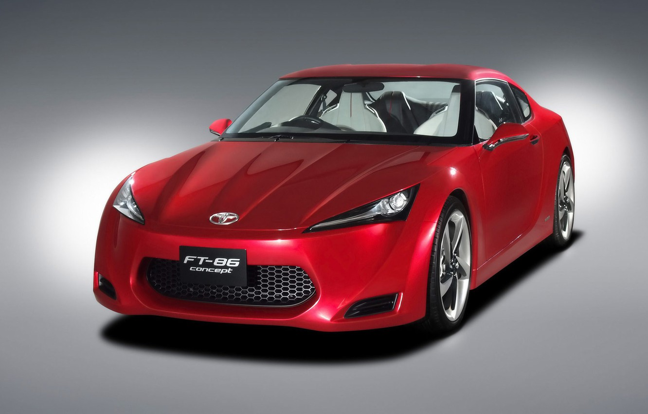 Photo wallpaper red, the concept, FT-86, Toyota