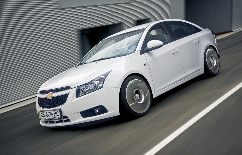 Photo wallpaper auto, white, sedan, Chevrolet Cruze
