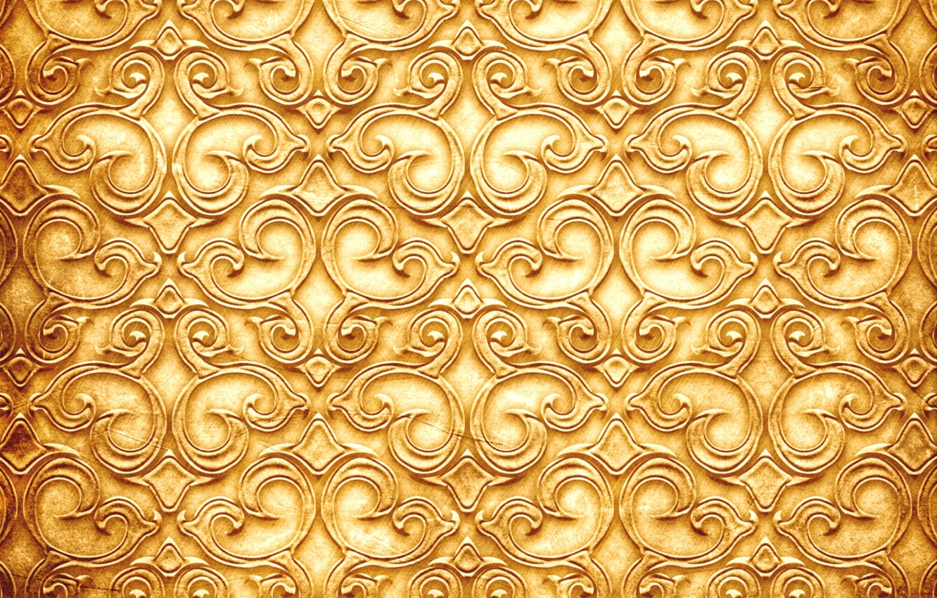 Wallpaper Pattern Texture Twigs Golden Color Images For