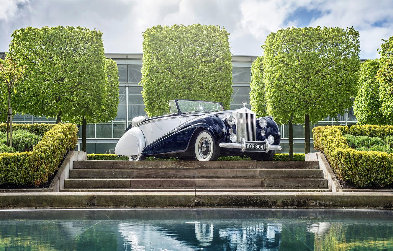 Photo wallpaper Rolls-Royce, Silver, rolls-Royce, 1952, Dawn Drophead
