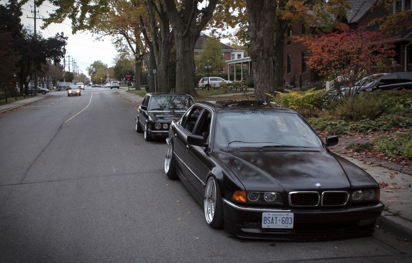 Photo wallpaper autumn, tuning, BMW, BMW, drives, classic, tuning, autumn, stance, E28, E38