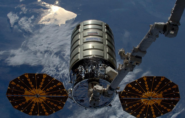 Photo wallpaper space, OA-6, Cygnus CRS, cargo ship
