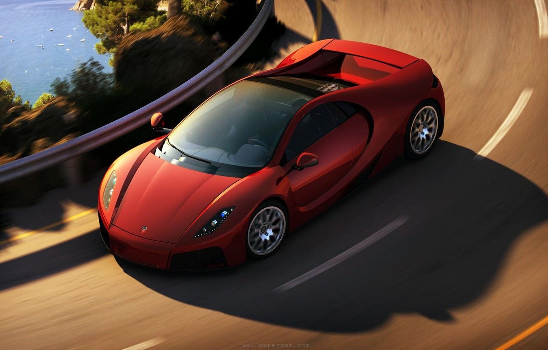 Photo wallpaper track, turn, supercar, in motion, gta spano