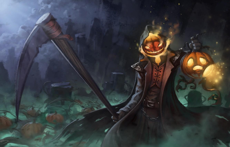 P O Wallpaper Halloween Pumpkinid Art Reaper Overwatch Gabriel Reyes