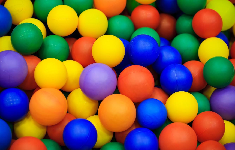 Photo wallpaper balls, balls, colored, a lot