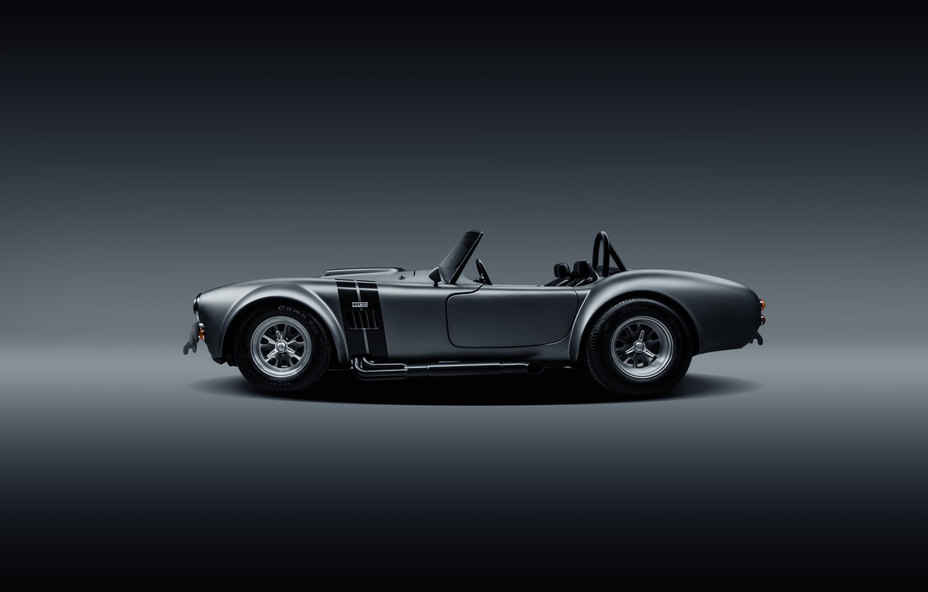 Photo wallpaper Shelby, Muscle, Car, Cobra, Side, Silver, SS Customs