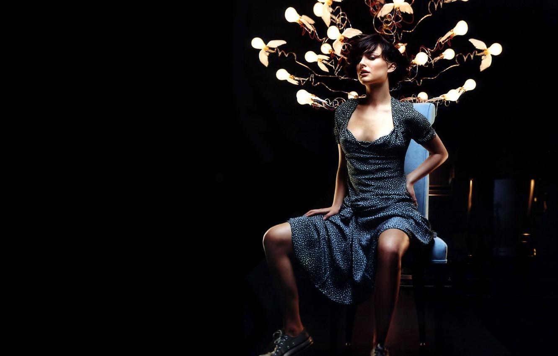 Photo wallpaper chair, strange, Light bulb
