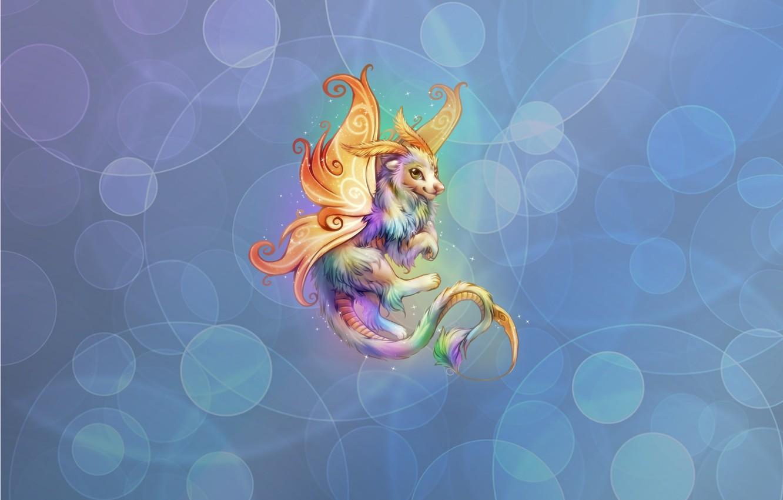 Photo wallpaper background, anime, dragon